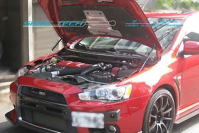 Mitsubishi Evolution X EVO 10 CZ4A Black Strut Gas Lift Hood Shock Damper Kit