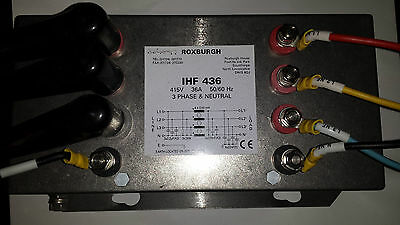 Roxburgh IHF 436 Line Filter 415V 25A 3 Phase & Neutral (#x42)