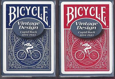 2 DECKS OHIO-MADE Bicycle Vintage Cupid Back playing cards