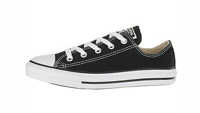 CONVERSE All Star Low Top Black White Shoes Canvas Kids Girls Sneakers 3J235