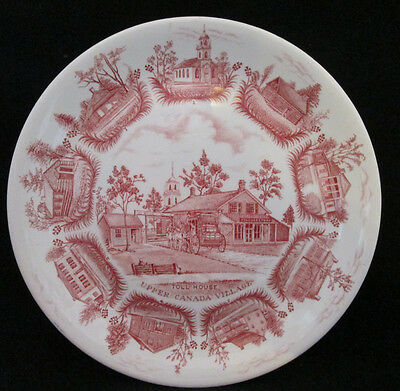 """Upper Canada Village Collector Plate by Alfred Meakin, England in RED 10"""""""