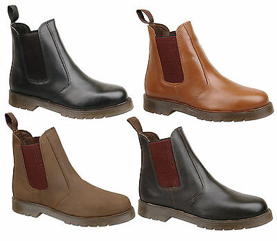 Mens Air Sole Leather Chelsea Dealer Ankle Fashion Boots Size 6 7 8 9 10 11 12