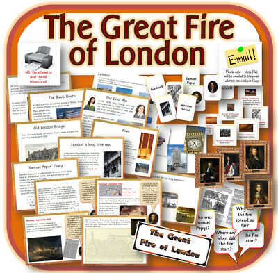 GREAT FIRE OF LONDON Primary Teaching Resources Display Worksheets Lessons on CD