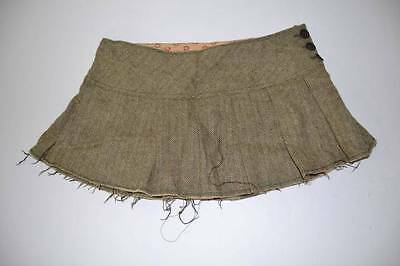 Abercrombie & Fitch Black Yellow Tweed Pleated Skirt Youth Girls Size 6
