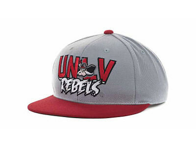 UNLV Runnin Rebels Quake NCAA 2-Tone Flat Bill Brim Cap Hat Snapback  Adjustable 240054401e7f