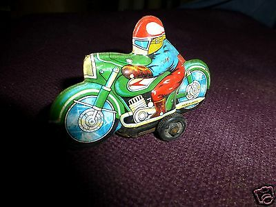Vintage Motorcycle fifties tin - made in Japan