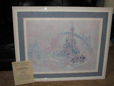 """Litho by Ed French 3819/5000 """" The Sun Never Sets On The Disney Magic"""" w/ COA"""