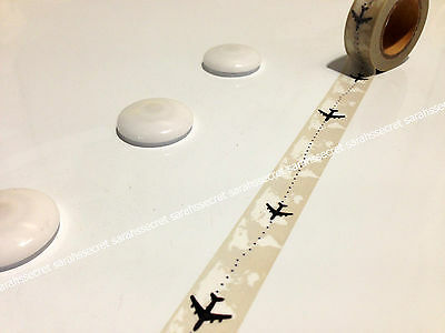 Japanese Washi Tape 15mmx10m World Airplane Travel #W1444
