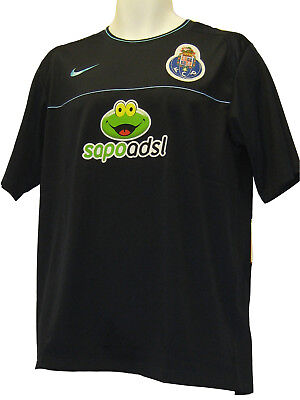 NIKE PORTO  FOOTBALL Training Pre Match Shirt Navy Blue Large