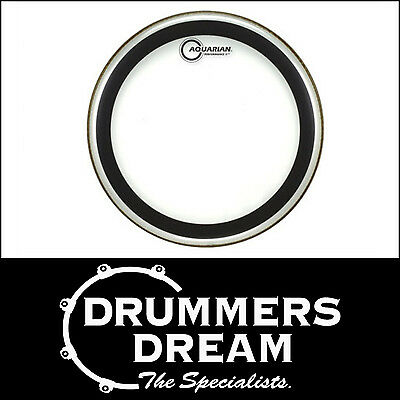 "Aquarian 18"" Performance 2 Clear Floor Tom Batter Drum Head- Brand New"