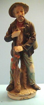 "Vintage 8"" Old Hobo Man Figurine Holding a Pipe, HOMCO #3070, No Tag, Very Nice!"