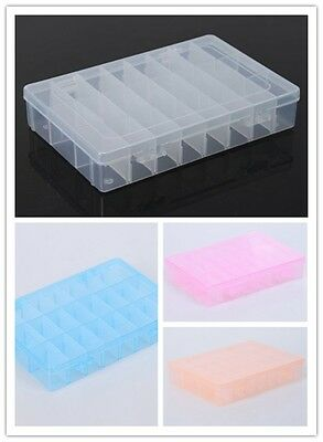 24 Slots Beads Jewelry / Loom Kit Display Container Case Storage Box Fashion -LJ