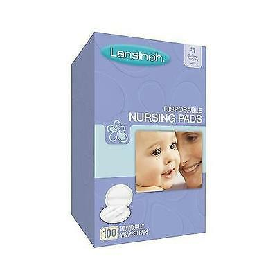 Lansinoh Disposable Individually Wrapped Quilted Nursing Pads 100 count