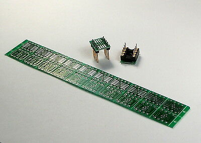 Promo$8,SOIC to DIP adapter PCB board 8 Pin SMD SOP8 SO8 SOIC8 to DIP8PTH 20pcs