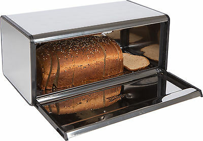 Stainless Steel Bread Box - By Trademark Innovations