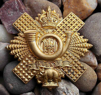 British Army Highland Light Infantry WW1 Glengarry Cap Badge - Old Reproduction
