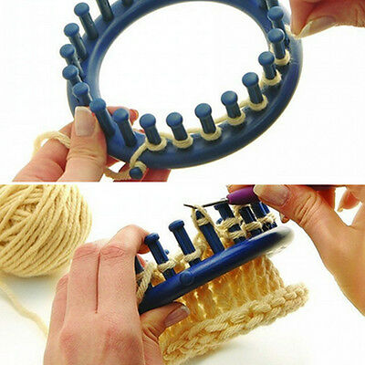 Hot! Blue Round Circle Hat 14CM Classical Knitter Knifty Knitting Knit Loom Kit