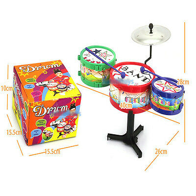 Hot! Children Kids Colorful Plastic Musical Instruments Toy Drum Drum Kit Set