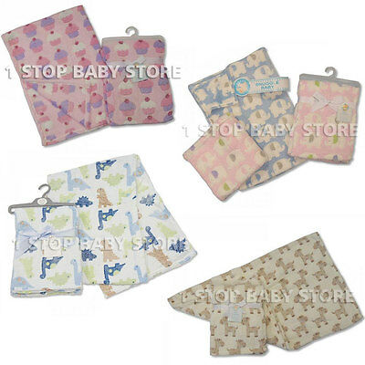 Newborn Baby soft Fleece Blanket Girl Boy 0 + Months Unisex Pram Cot  100 x 75cm