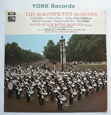 BAND OF HM ROYAL MARINES - Magnificent Marines - Ex Con LP Record HMV CSD 3682