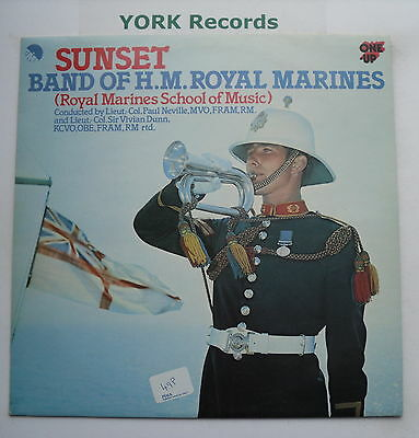 BAND OF HM ROYAL MARINES - Sunset - Excellent Con LP Record EMI One-Up OU 2096