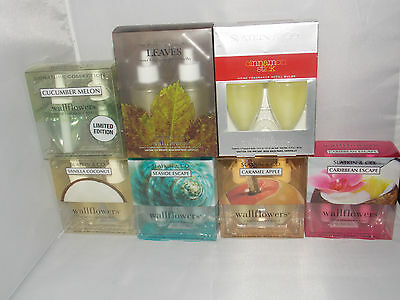 2 Bath & Body Works Slatkin U CHOOSE Wallflowers Refills 2 Bulbs .8 oz Each New