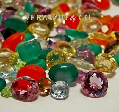 Loose Faceted Natural Gemstones Mixed Gems Wholesale Loose Gem Mix Gemstone Lot