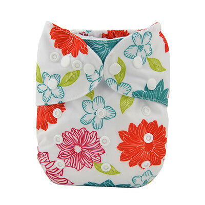 Alva Reusable Washable Baby Cloth Diaper AIO Nappy +1 Sewed in Insert for Girl