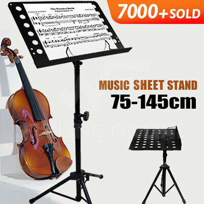 Heavy Duty Large Professional Stage Music Sheet Stand Adjustable Folding Black