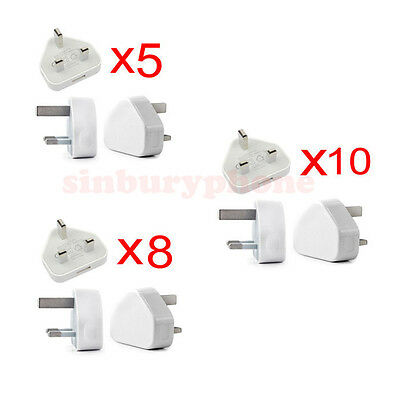 Genuine CE Wholesale UK MAINS 3 PIN USB PLUG CHARGER ADAPTER FOR Mobile Phones