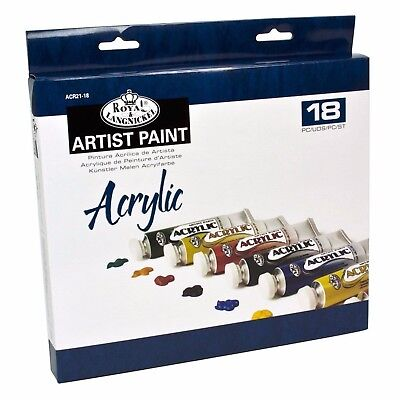 Royal and Langnickel Acrylic Painting Art Set Of 18 + 2 Brushes