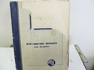 Acton Labs 7000-B Primary Phase Standard Instruction Manual w/schematics
