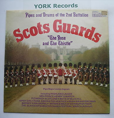 PIPES & DRUMS OF THE 2ND BATTALION SCOTS GUARDS - Rose & The Thistle - Ex Con LP