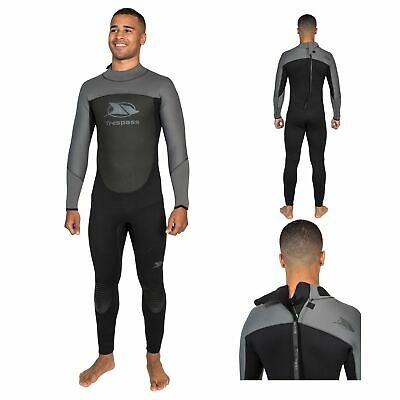 Trespass Diver Mens 5mm Full Body Surfing Kiteboarding Sailing Neoprene Wetsuit