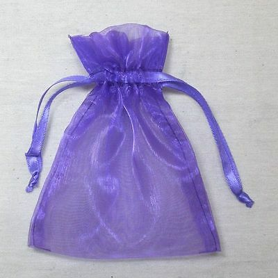 100 x Plain Organza Silk Gift Pouch Wedding Party Favour Bag-from $9.5-Aus Stock