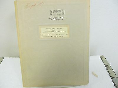 Advanced Measurements 700 Series Converter Instruction Manual w/schematic