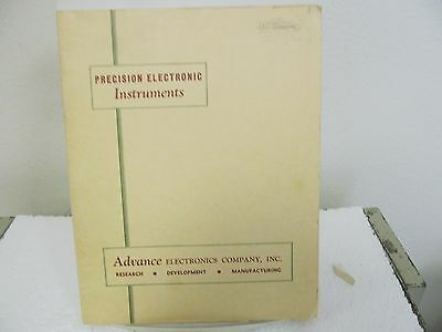 Advance Electronics 205, 205A Precision Phase Detector Instruction Manual