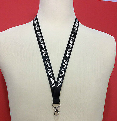 Personalised Lanyard Neckstrap Custom Printed Work School Office Nurse Tradeshow