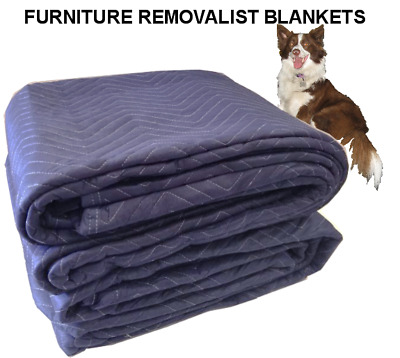 FURNITURE REMOVALIST BLANKETS X 6 QUILTED PACKING MOVING STORING 3.4mt X 1.8mt