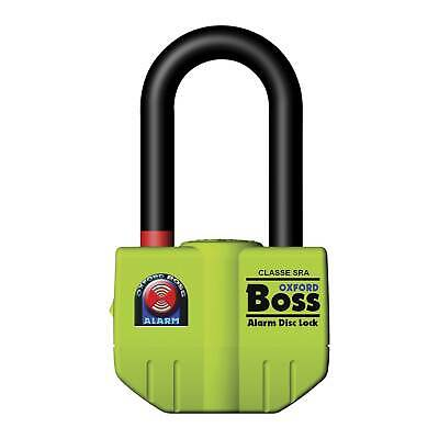 Oxford Boss Ultra Strong Alarm 14mm Brake Disc Lock - Thatcham Approved