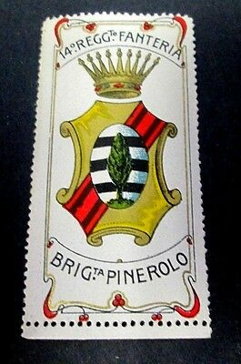 Italy, Late 1800's-Early 1900's Military Labels For Various Units, Mint & Nh