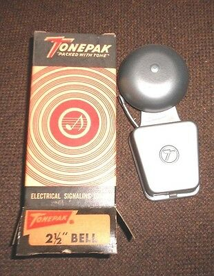 "TONEPAK 302T Signal 2-1/2"" VIBRATING BELL Fire Alarm NEW Security Protection NIB"