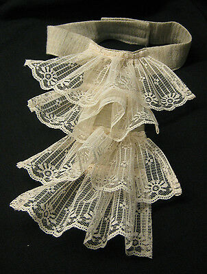 Lady Pirate Sea Capt Small Jabot Lace Dickey Washable Classic 18th Century Child