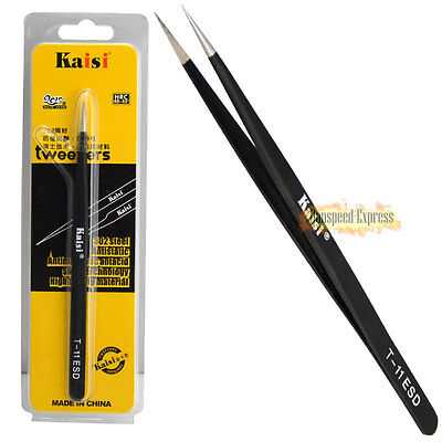 Professional ESD Precision Stainless Steel Anti Static Fine Pointed Tweezer Tool