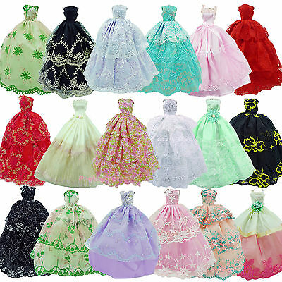 Lot 5Pcs Handmade Wedding Dress Clothes Outfits For 11.5 inch 12 inch 1/6 Doll