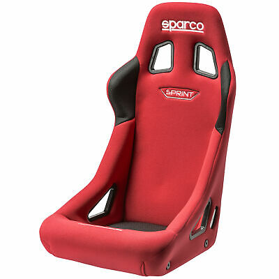 Sparco Sprint Steel Frame FIA Approved Base/Side Mount Bucket Seat - Red