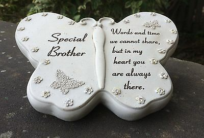 Memorial For Special Brother Butterfly Shaped Grave Ornament Funeral Tribute