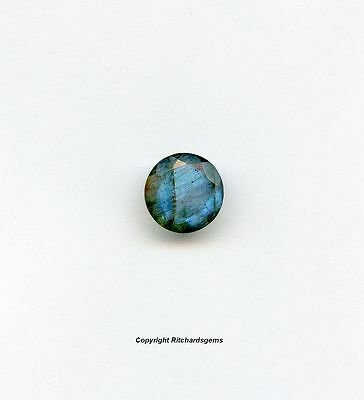 Natural 10 mm Large Faceted Round Cut Labradorite For One AAA