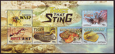 AUSTRALIA 2014 THINGS THAT STING MINIATURE SHEET UNMOUNTED MINT