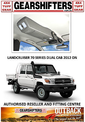 Outback Accessories Roof Console Toyota Landcruiser 70 Series Dual Cab 2012 On